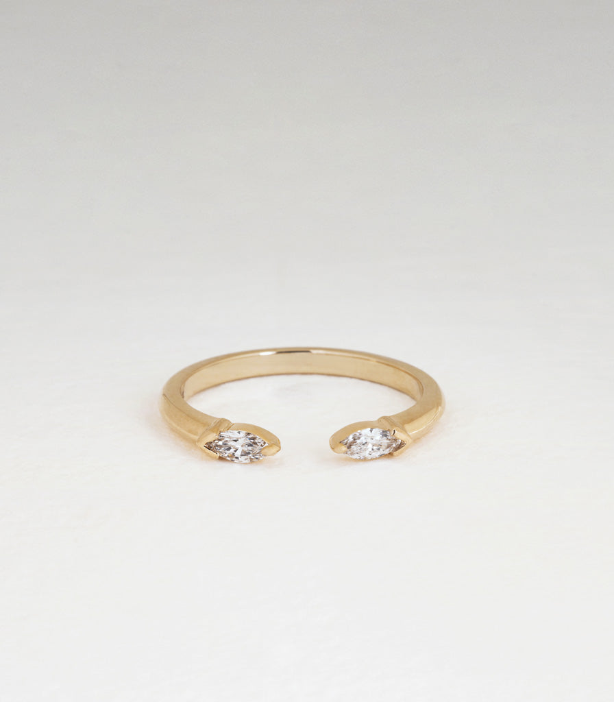 Marquise Diamond Torc Ring