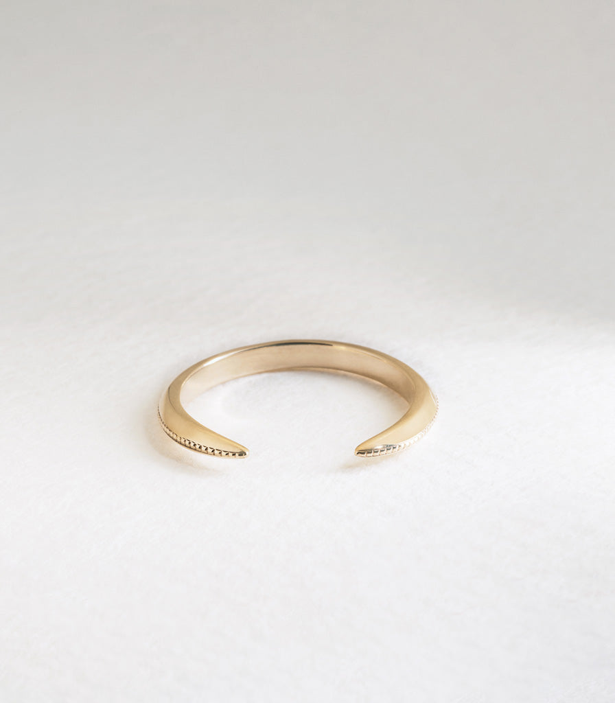 Torc Ring with Milgrain
