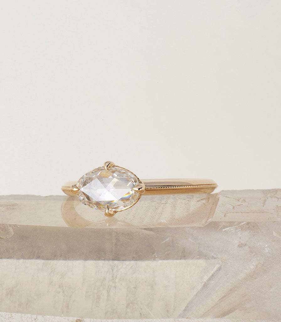 Ali Ring - Rosecut Oval Diamond