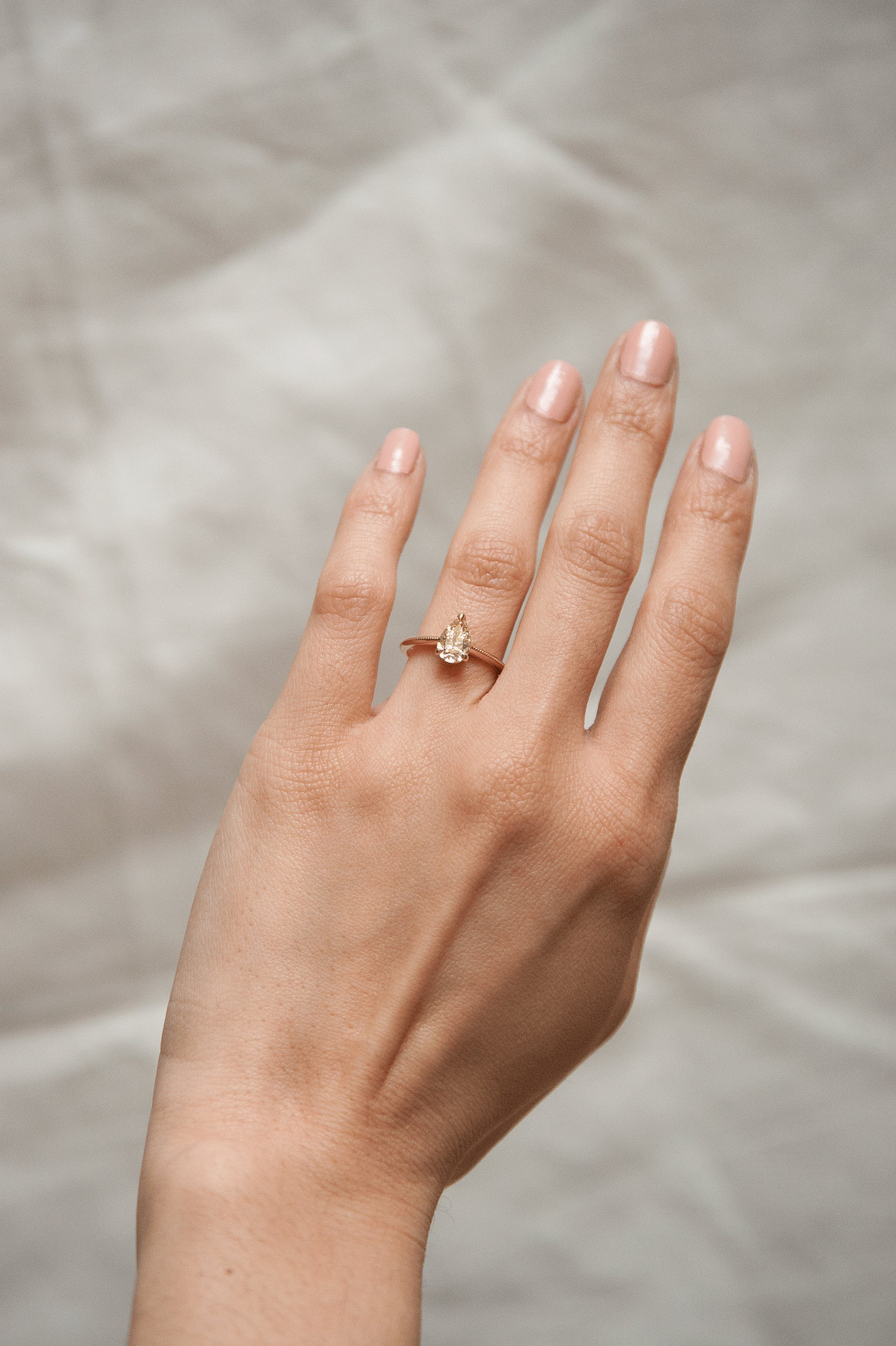 Aline Ring with Milgrain - Champagne Pear