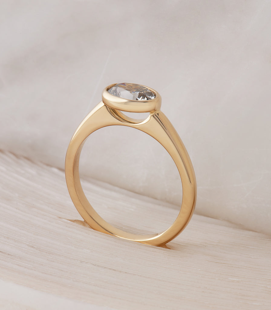Bella Ring - Fancy Grey Oval