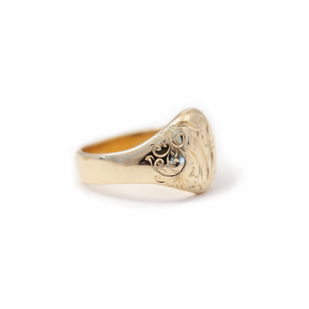 Oval Signet Ring - Large