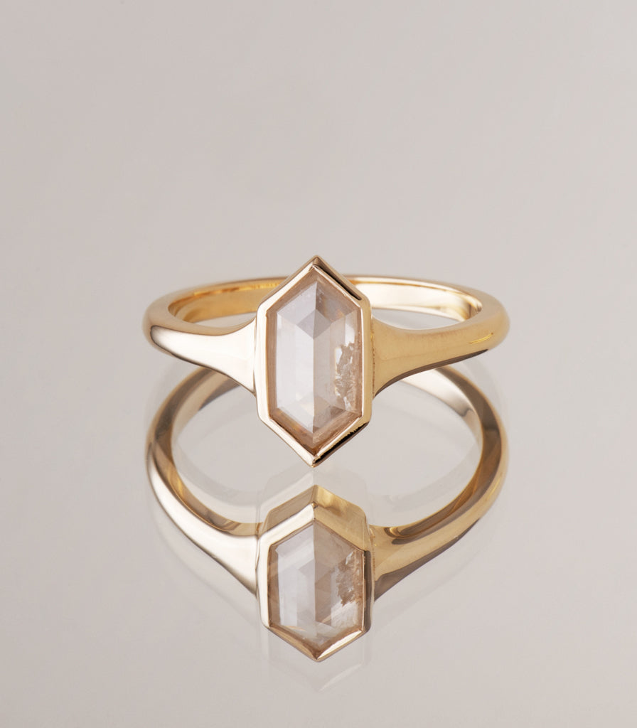Hunter Ring - Icy Hexagonal Diamond