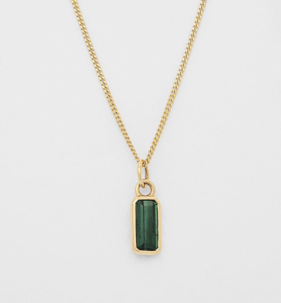 Mojo Charm - Green Tourmaline (Tall)