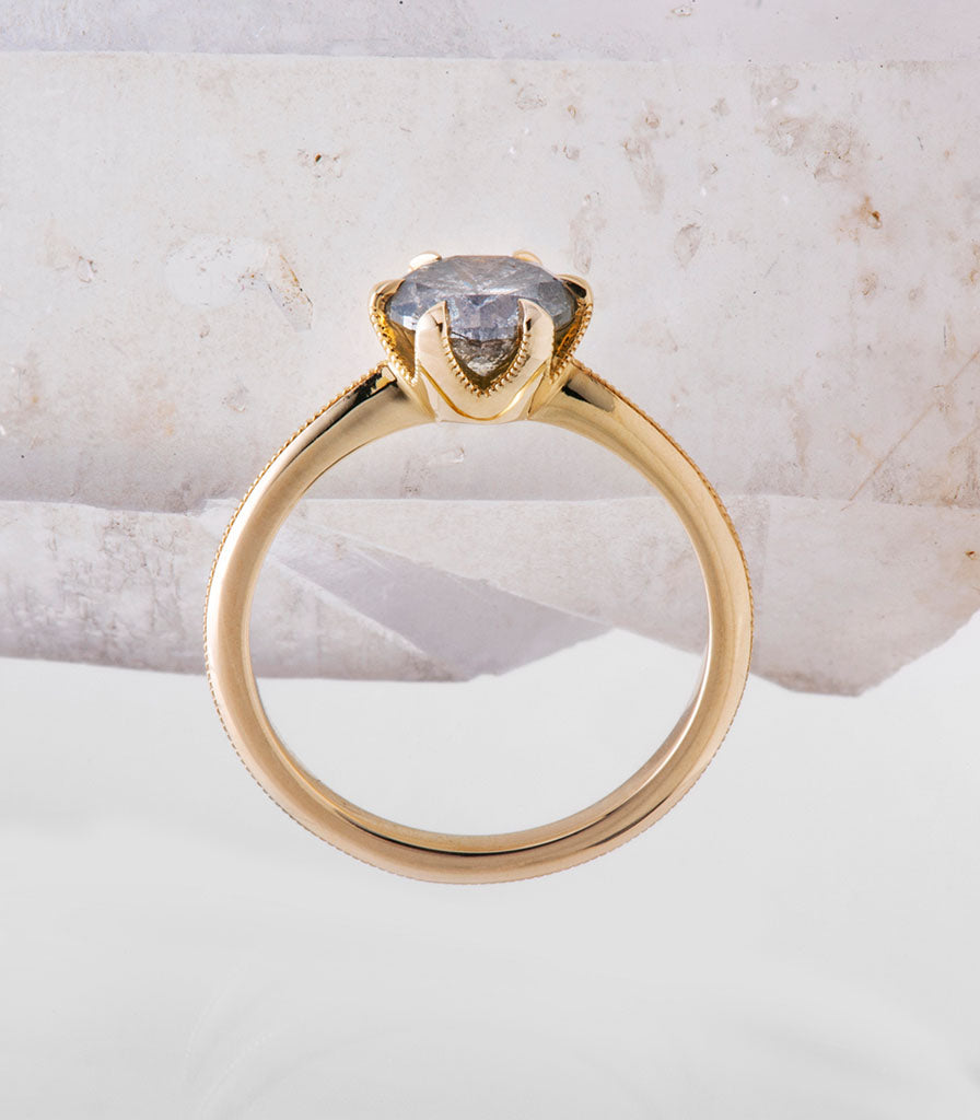 Simone Ring - Grey Salt + Pepper Diamond
