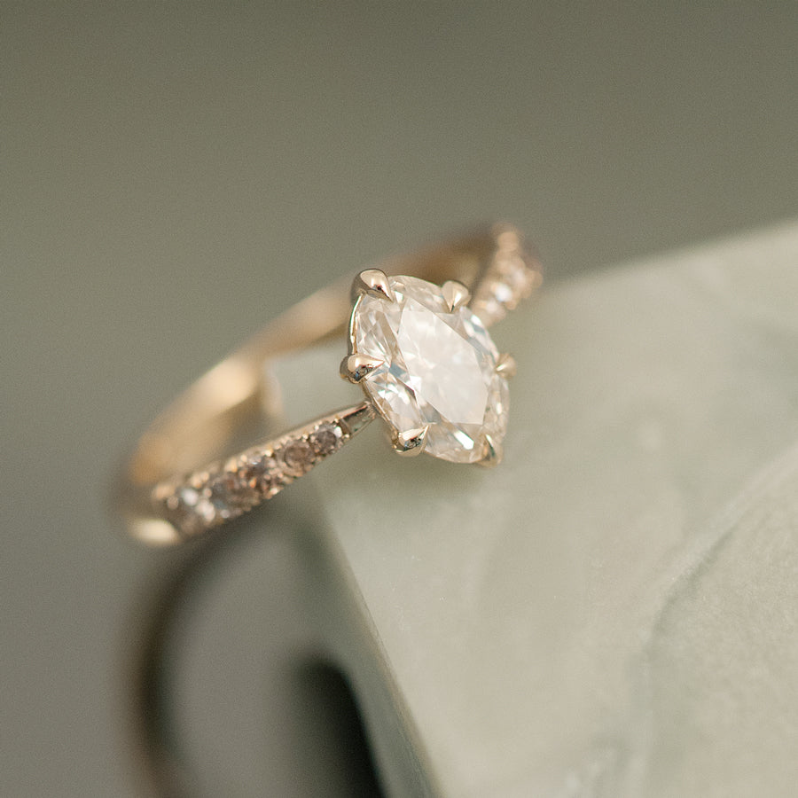 Sophie Ring - Champagne Oval Diamond