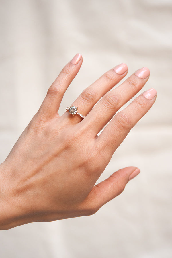 Sophie Ring - Salt + Pepper Diamond