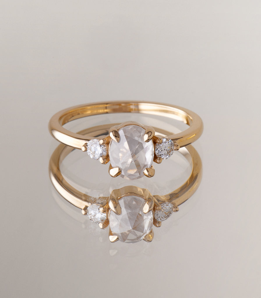 Thea Ring - Icy Oval Diamond