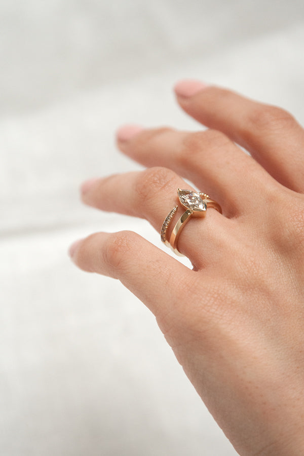 Union Ring - Champagne Marquise Diamond