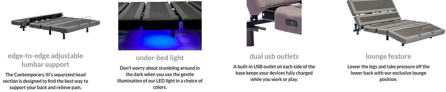 Electric bed bases