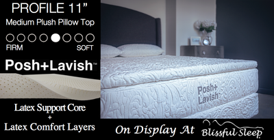 "Posh + Lavish Relax Medium Firm + 2"" True Pillow Top"