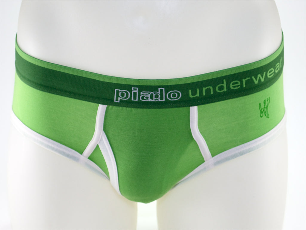 Piado - Green Briefs - Affordable Designer Underwear