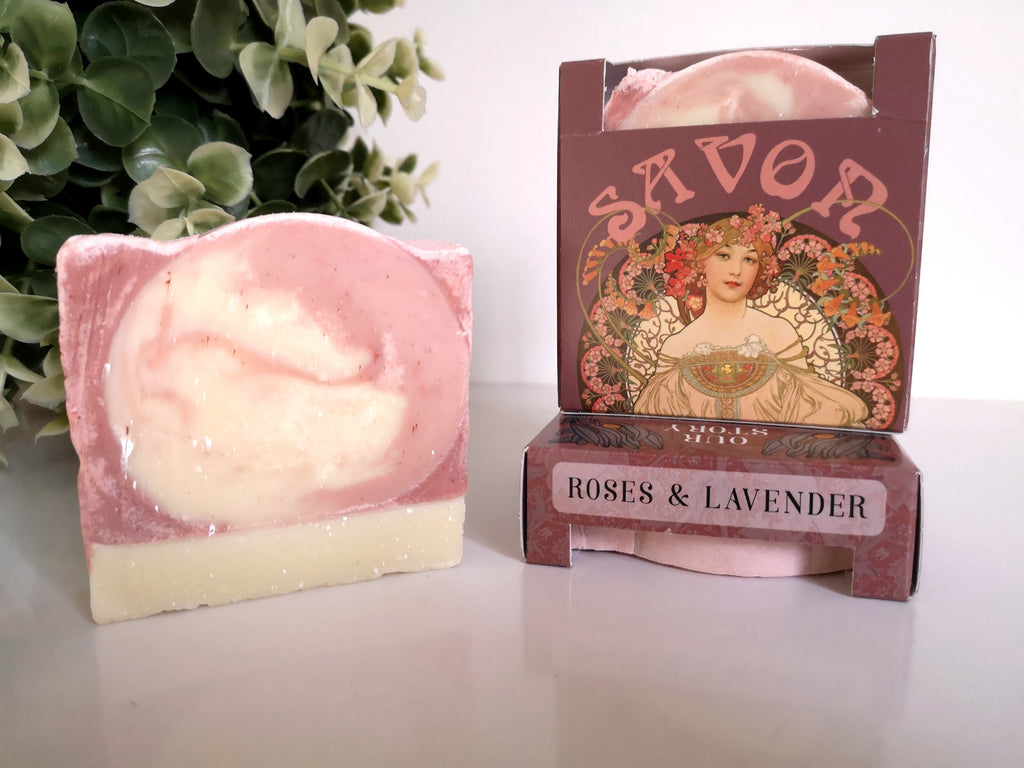 Roses and Lavender Natural soap