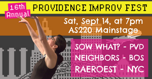 SATURDAY, SEPTEMBER 14, 2019 - AS220 Mainstage at 7pm