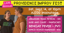 SATURDAY, SEPTEMBER 14, 2019 - AS220 Mainstage at 10pm