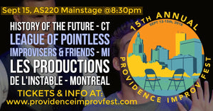 SATURDAY, SEPTEMBER 15, 2018 - AS220 Mainstage at 8:30pm
