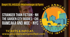 SATURDAY, SEPTEMBER 15, 2018 - AS220 Mainstage at 7pm