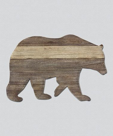 bear wood cutout for teddy bear themed nursery idea