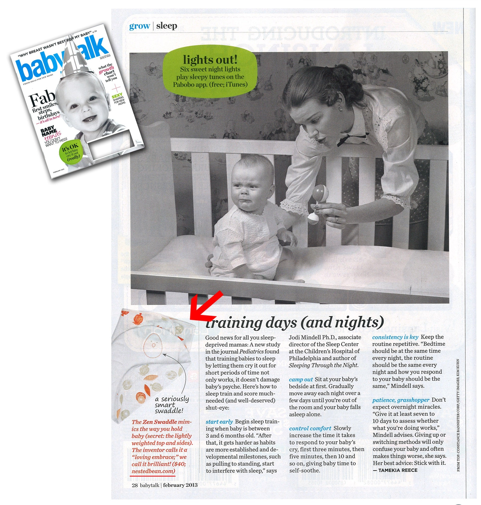 The Zen Swaddle in BabyTalk Magazine