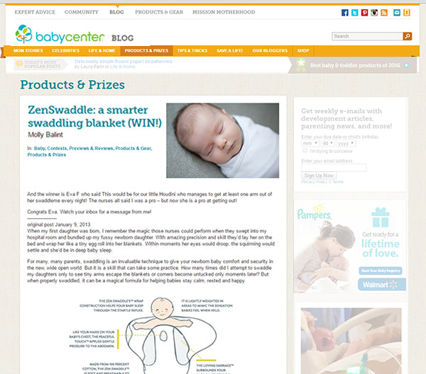 BabyCenter Zen Swaddle Review