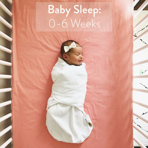 How long babies should sleep 0-6 weeks