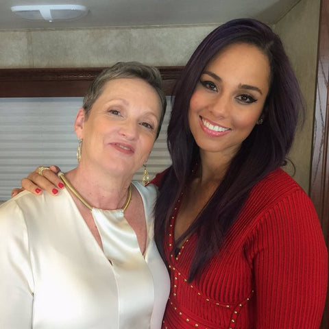 Alicia Keys with her Mom - Raised by Single Mom