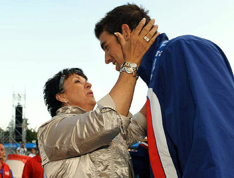 Michael Phelps with his Single Mom - Single Parenting