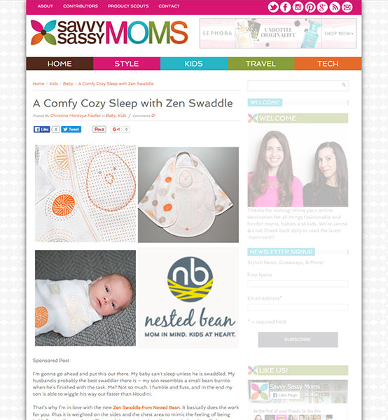 SassyMoms Zen Swaddle Review