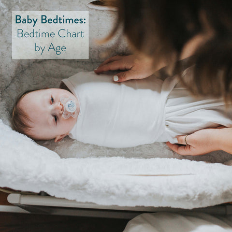 baby bedtime chart by age