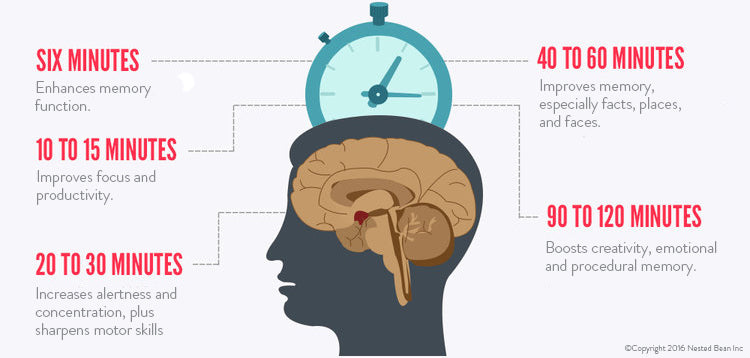 Napping Infographic - How Napping Improves Our Mental Abilities