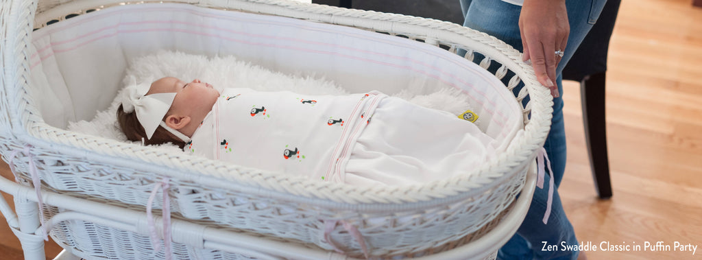 Zen Swaddle in Puffin Party
