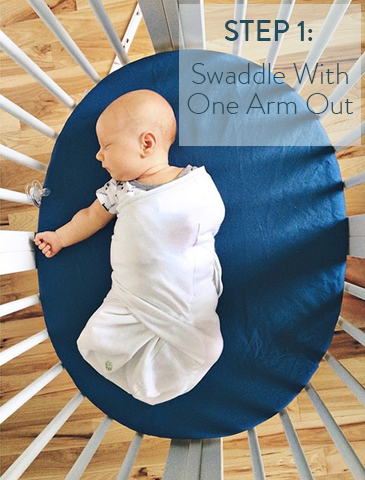 step-1-swaddle-with-one-arm-out-transition