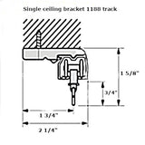 1188 curtain track single ceiling bracket