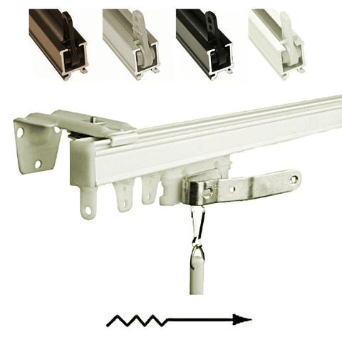 One Way Left Wall Mount Curtain Track Set Curtain Rod Connection