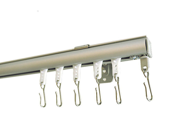 Wall Mounted Track Saw : Deco wall mount curtain track with hook carriers