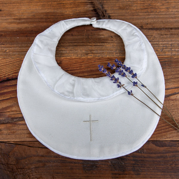 Christening Bib with Cross
