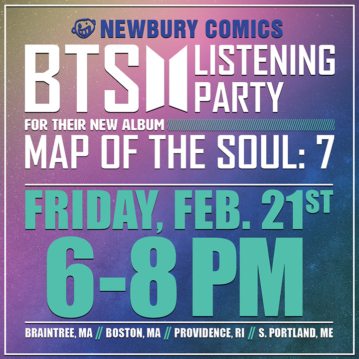 BTS Map Of The Soul 7 Listening Party February 21st 6-8pm - Braintree Boston Providence Portland