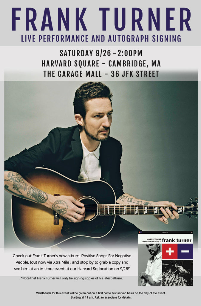 Frank Turner Live Performance + Signing