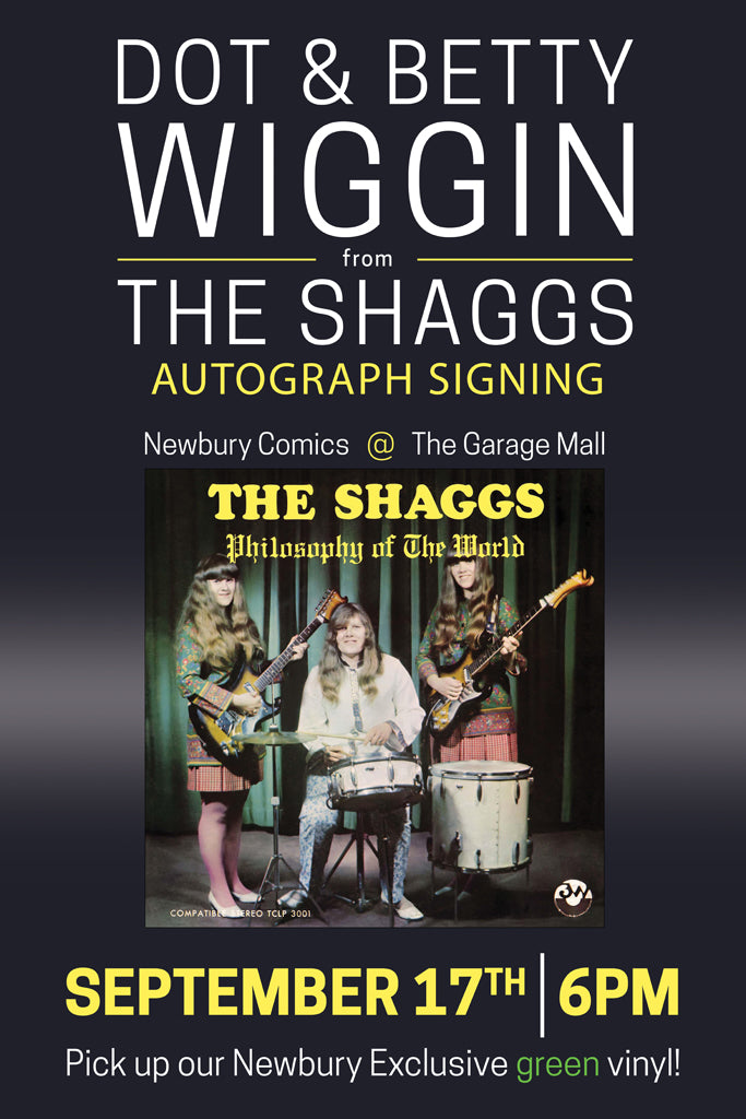 Dot Wiggin From The Shaggs Autograph Signing - September 17th at 2:00 PM - Newbury Comics Harvard Sq Cambridge, MA location