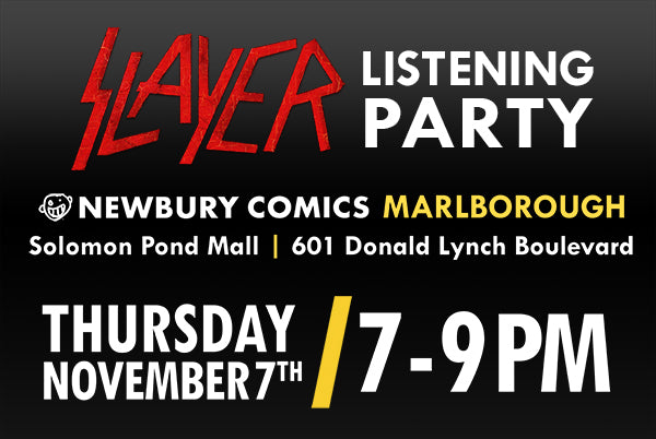 Slayer Album Listening Party Solomon Pond Marlborough MA location Thursday November 7th @ 7-9PM