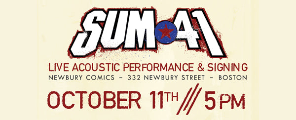 Sum 41 Live Performance & Autographed Signing