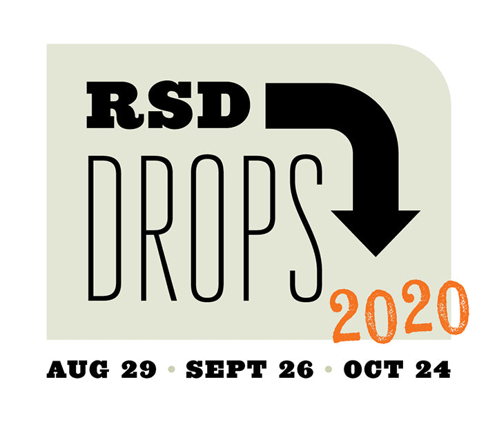 Record Store Day Drops Logo 2020 - Auguset 29, September 26, October 24