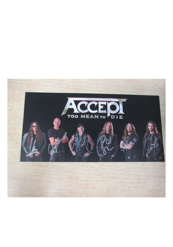 ACCEPT Too Mean To Die 2LP (Color) With Autographed Postcard