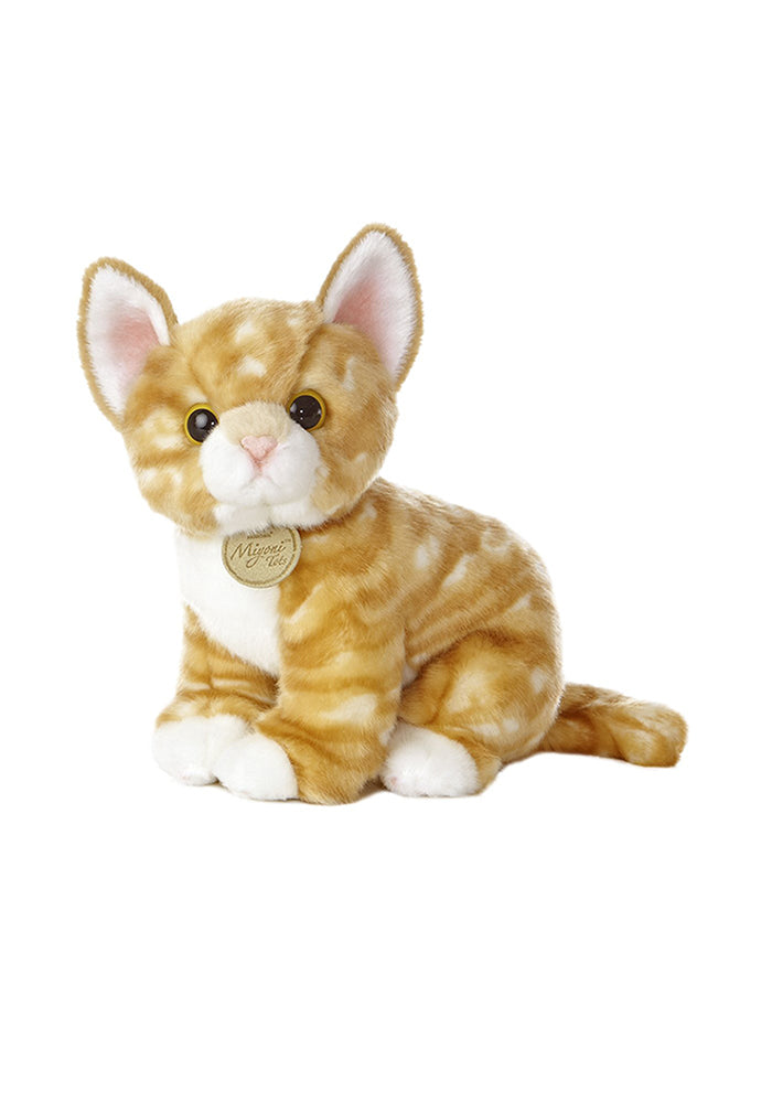 "AURORA Miyoni Tots Orange Tabby Kitten 10"" Plush"
