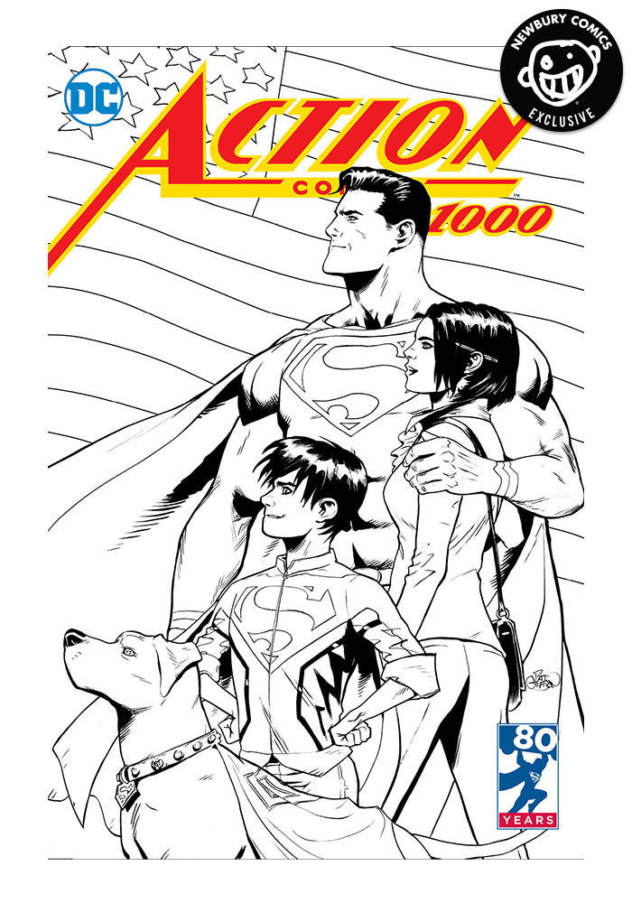 DC COMICS Action Comics #1000 Exclusive Variant Comic (B&W)