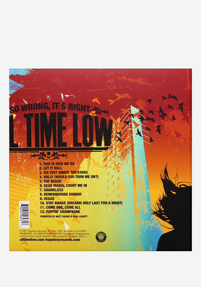 ALL TIME LOW So Wrong It's Right Exclusive LP