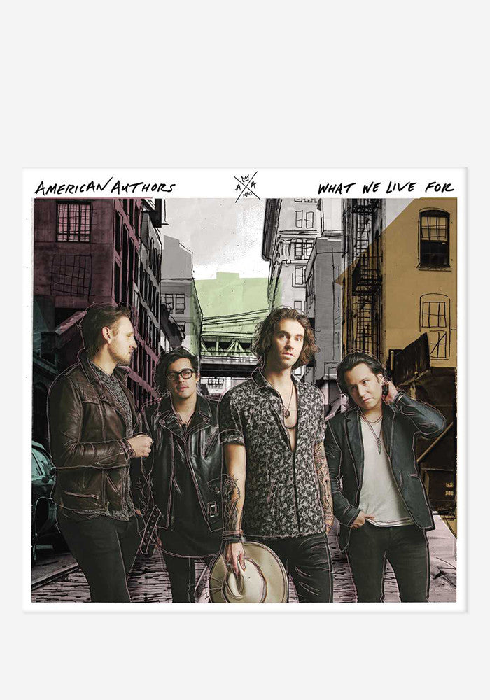 AMERICAN AUTHORS What We Live For With Autographed CD Booklet