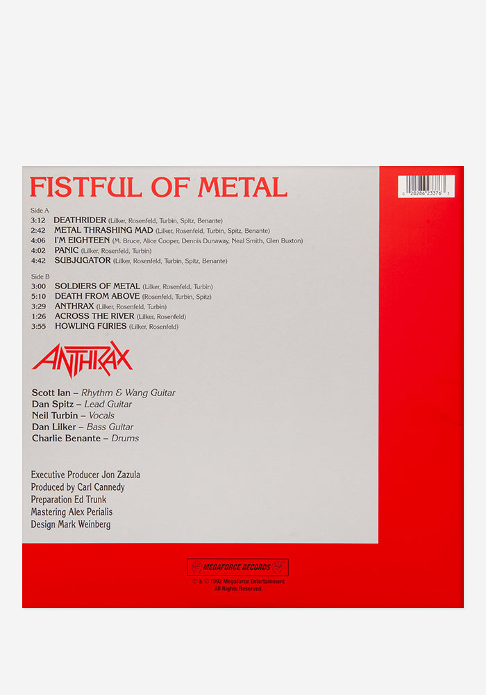 ANTHRAX Fistful Of Metal Exclusive LP (Pounding)