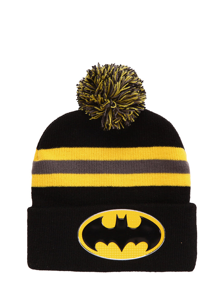BATMAN Batman Logo Striped Pom Beanie
