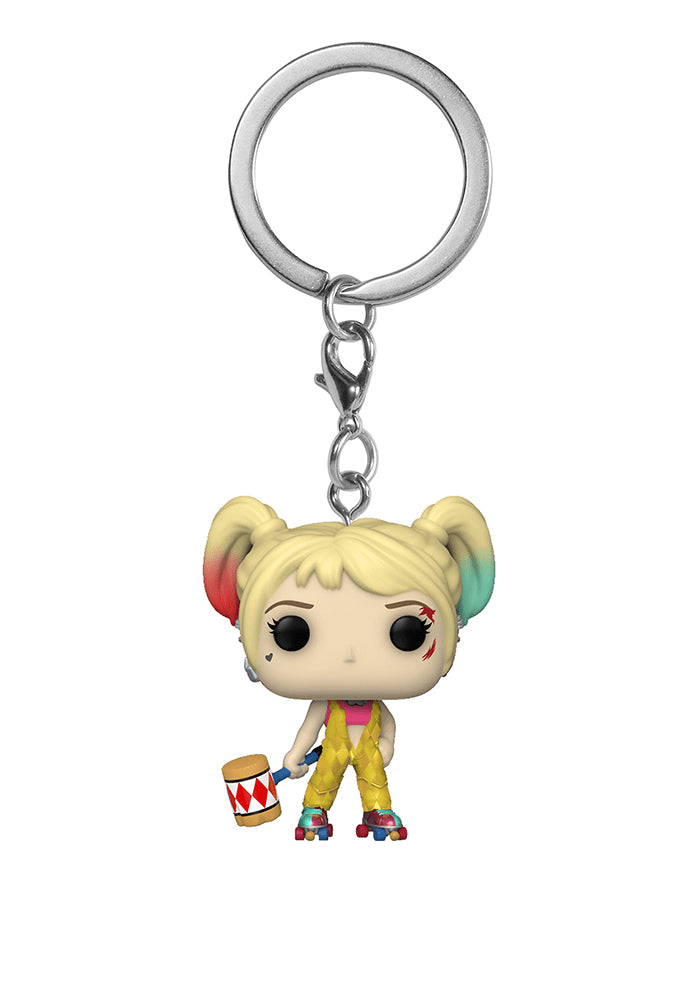 BIRDS OF PREY Funko Pocket Pop! Keychain: Birds of Prey - Harley Quinn With Mallet